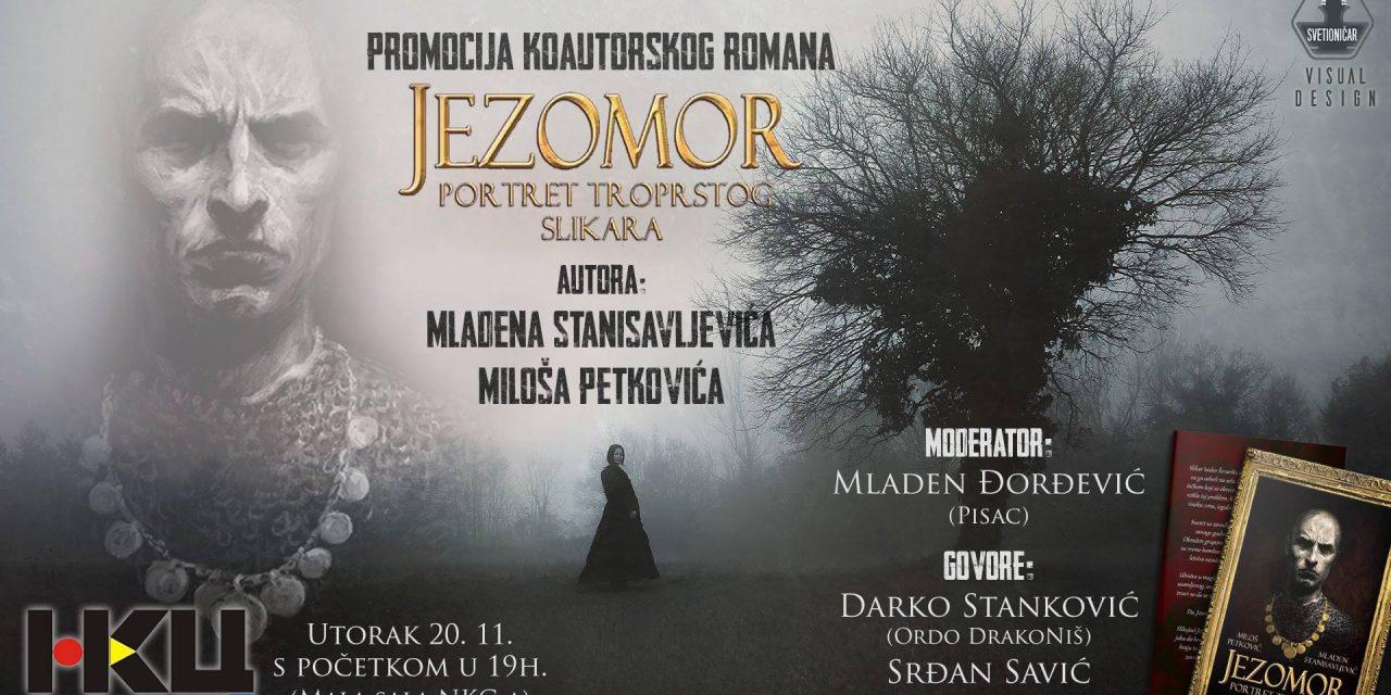 Promocija romana Jezomor – Portret troprstog slikara