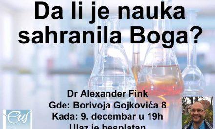 Doktor biofizike Alexander Fink iz Nemačke je ponovo u Nišu!