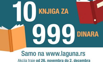 """Akcija """"10 knjiga za 999 dinara"""" samo na sajtu Lagune!"""
